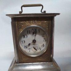Relojes de carga manual: ANTIGUO RELOJ DE SOBRE MESA WOLTRAN, CARGA MANUAL, PARA RESTAURAR, TIENE SU LLAVE.. Lote 145904989