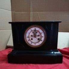 Relojes de carga manual: ESPECTACULAR RELOJ FRANCÉS ESCAPE VISTO MÁRMOL NEGRO SIGLO XIX. Lote 152590962