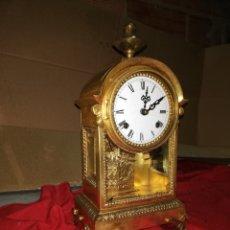 Relojes de carga manual: IMPRESIONANTE RELOJ VITRINA DE BRONCE AL MERCURIO. Lote 147482409