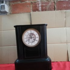 Relojes de carga manual: IMPORTANTE RELOJ FRANCÉS SIGLO XIX MÁRMOL NEGRO ESCAPE VISTO. Lote 152591085