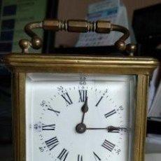 Relojes de carga manual: RELOJ DE VIAJE EN BRONCHE SONERIA. Lote 147575834
