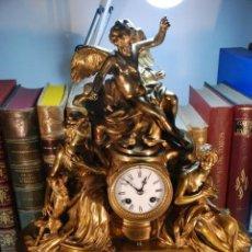 Relojes de carga manual: IMPONENTE RELOJ DE BRONCE MACIZO - CARGA MANUAL - SIGLO XIX - PESO DE CASI 25 KG !! - GRAN PIEZA -. Lote 148054690