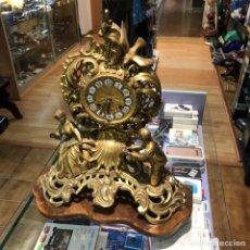Relojes de carga manual: RELOJ SOBREMESA DE CUERDA ANTIGUA BASE MÁRMOL. Lote 148206145