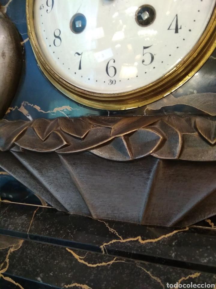 Relojes de carga manual: Reloj art decó con guarnición de granito y metal - Foto 11 - 148536497