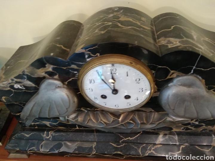 Relojes de carga manual: Reloj art decó con guarnición de granito y metal - Foto 17 - 148536497