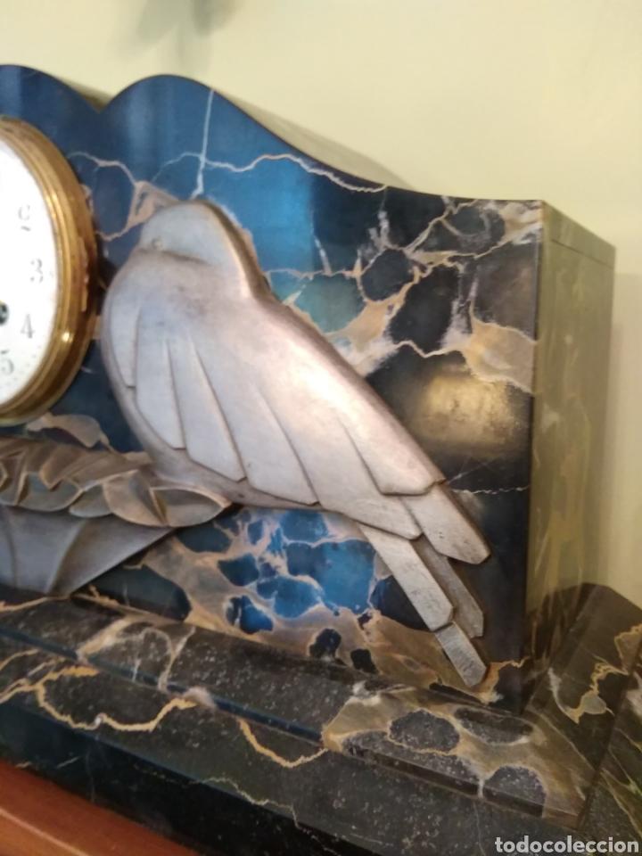 Relojes de carga manual: Reloj art decó con guarnición de granito y metal - Foto 12 - 148536497