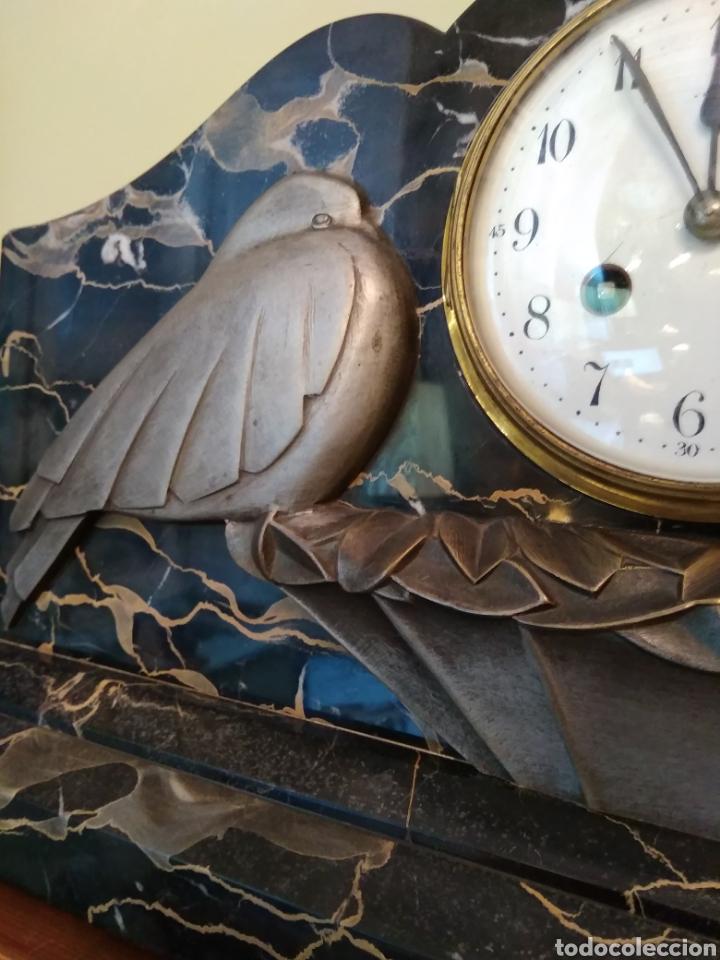 Relojes de carga manual: Reloj art decó con guarnición de granito y metal - Foto 7 - 148536497