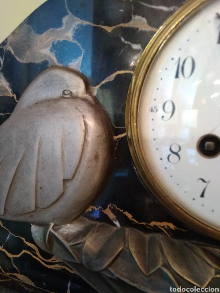 Relojes de carga manual: Reloj art decó con guarnición de granito y metal - Foto 10 - 148536497
