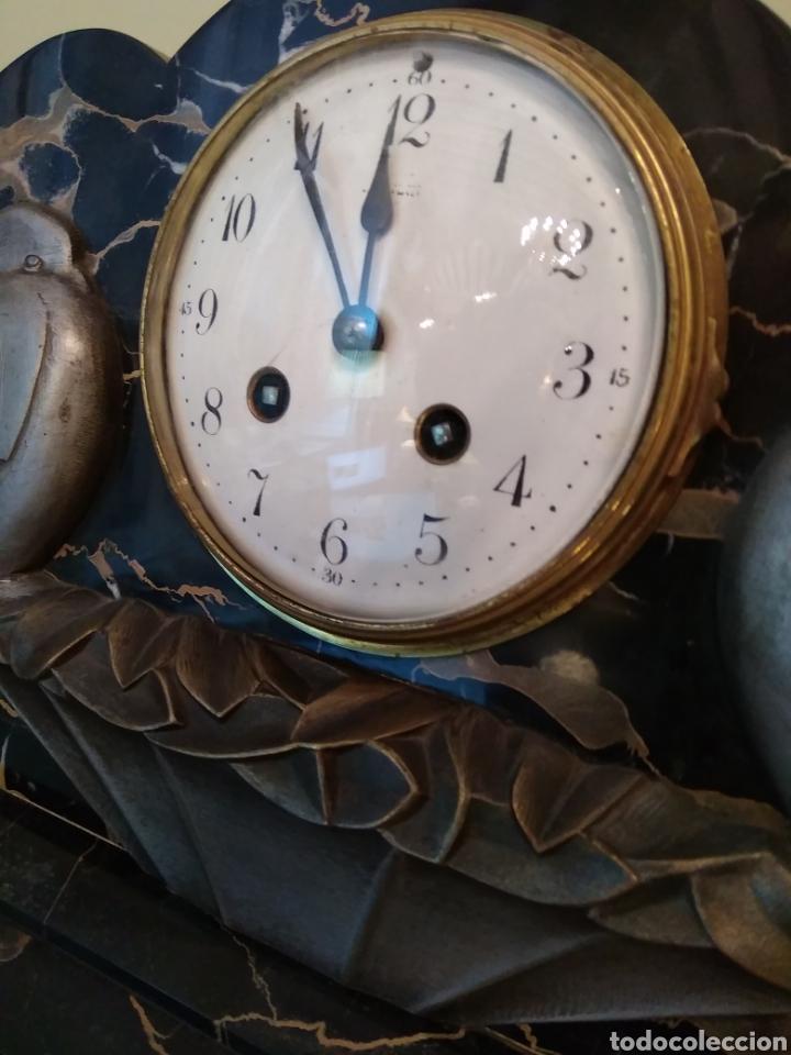 Relojes de carga manual: Reloj art decó con guarnición de granito y metal - Foto 9 - 148536497
