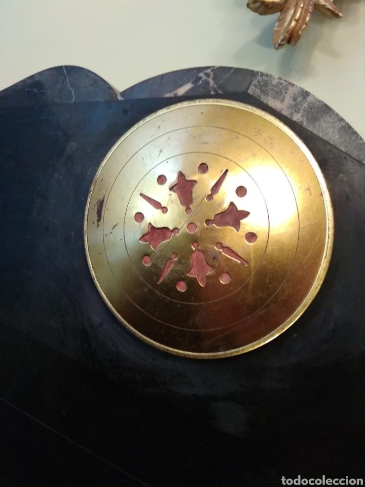 Relojes de carga manual: Reloj art decó con guarnición de granito y metal - Foto 21 - 148536497