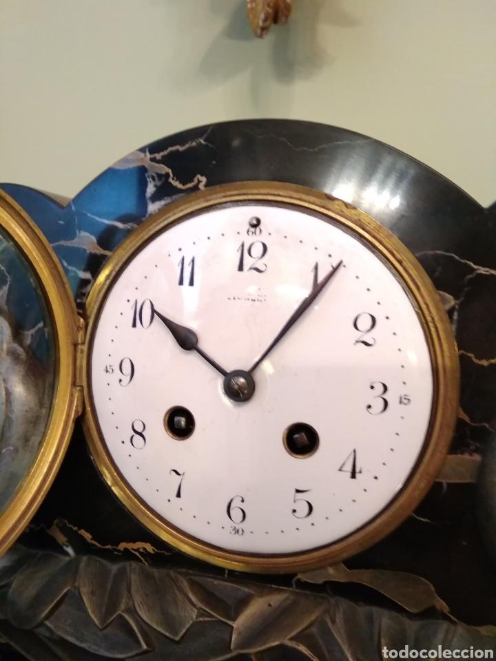 Relojes de carga manual: Reloj art decó con guarnición de granito y metal - Foto 22 - 148536497