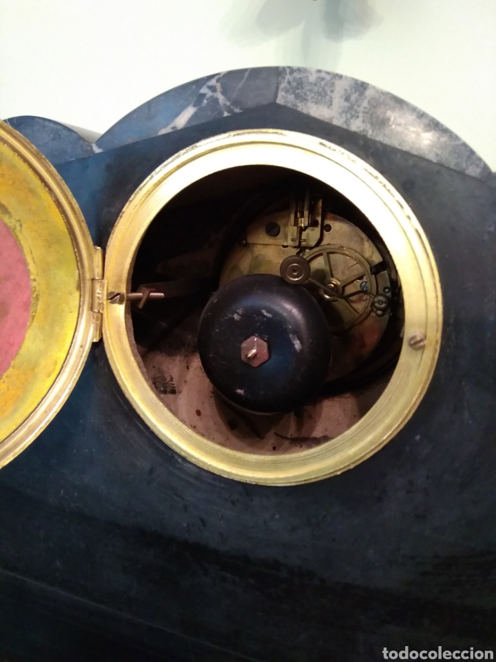 Relojes de carga manual: Reloj art decó con guarnición de granito y metal - Foto 6 - 148536497