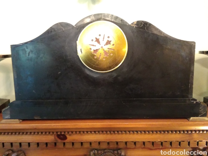 Relojes de carga manual: Reloj art decó con guarnición de granito y metal - Foto 13 - 148536497
