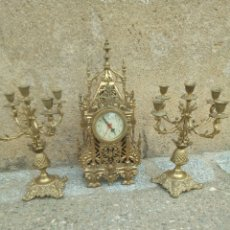 Kaminuhren - Reloj y candelabros bronce - 148847148