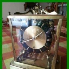 Relojes de carga manual: RELOJ SCHATZ ALEMÁN, 8 DIAS, CARILLÓN TRES MELODÍAS, AZABACHE NEGRO. FUNCIONANDO.. Lote 149315638