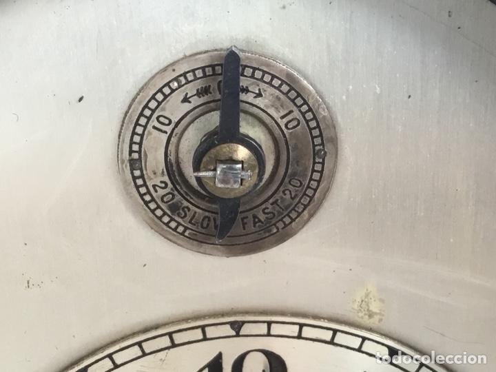 Relojes de carga manual: Reloj de capilla ,caja de madera noble, siglo XIX, en perfecto estado funcionando. - Foto 6 - 149559702