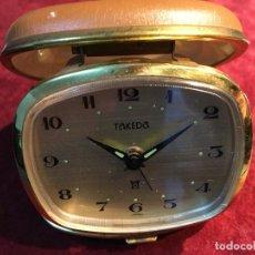Relojes de carga manual: DESPERTADOR DE VIAJE CARGA MANUAL TAKEDA. , AÑOS 60. VINTAGE. Lote 149660334