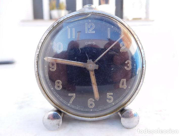 RELOJ DE SOBREMESA ORIS ESFERA NEGRA (Relojes - Sobremesa Carga Manual)