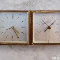Relojes de carga manual: RELOJ DE SOBREMESA DELUXE CON BAROMETRO . Lote 150113546