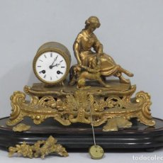 Relojes de carga manual: ANTIGUO RELOJ DE CALAMINA DORADA. PH. MOUREY. SIGLO XIX. Lote 150238982