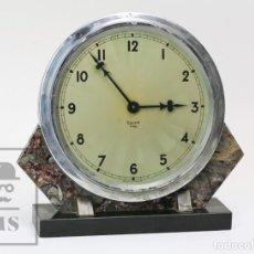 Relojes de carga manual: RELOJ DE SOBREMESA ESTILO ART DÉCO - BAYARD. 8 DÍAS - MÁRMOL - FRANCIA, AÑOS 50-60 - FUNCIONA - #E01. Lote 152138026