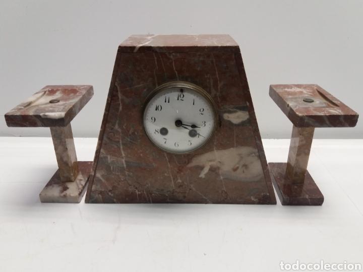 RELOJ DE MARMOL ESTILO ART DECO (Relojes - Sobremesa Carga Manual)