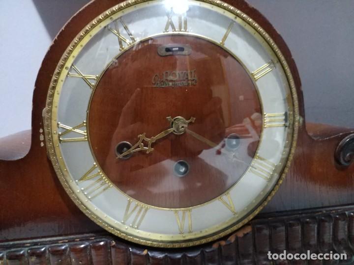 IMPONENTE GRAN RELOJ DE CHIMENEA O SOBREMESA ROYAL WESTMINSTER (Relojes - Sobremesa Carga Manual)