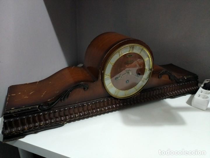 Relojes de carga manual: Imponente Gran reloj de chimenea o sobremesa Royal Westminster - Foto 2 - 152899182