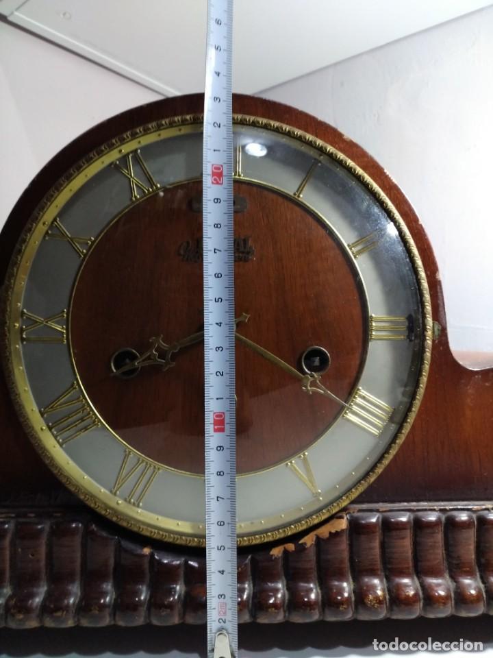 Relojes de carga manual: Imponente Gran reloj de chimenea o sobremesa Royal Westminster - Foto 10 - 152899182