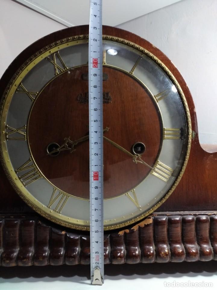 Relojes de carga manual: Imponente Gran reloj de chimenea o sobremesa Royal Westminster - Foto 11 - 152899182