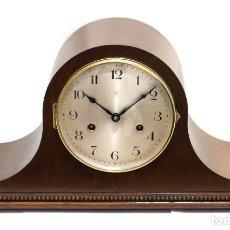 Relojes de carga manual: ESPECTACULAR RELOJ DE SOBREMESA, CON SONERÍA LAS HORAS Y MEDIAS FUNCIONANDO, DE ORIGEN ALEMAN,. Lote 153543674