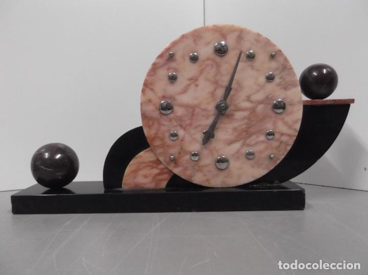 MAGNIFICO RELOJ DE SOBREMESA ART-DECO (Relojes - Sobremesa Carga Manual)