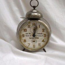 Relojes de carga manual: DESPERTADOR DE SOBREMESA (FUNCIONA). Lote 155898522