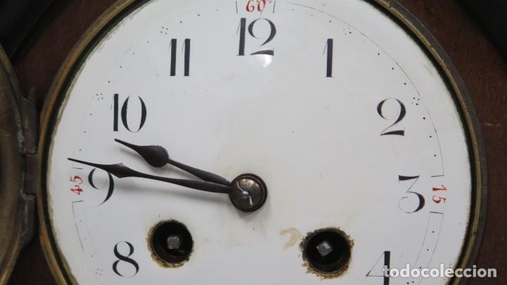 Relojes de carga manual: ANTIGUO RELOJ INGLES DE SOBREMESA DE MADERA CON MARQUETERIA - Foto 5 - 155922146