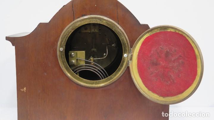 Relojes de carga manual: ANTIGUO RELOJ INGLES DE SOBREMESA DE MADERA CON MARQUETERIA - Foto 8 - 155922146