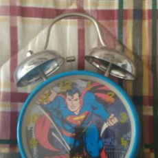 Relojes de carga manual: RELOJ DESPERTADOR SUPERMAN. ORIGINAL DE DC. Lote 156282944