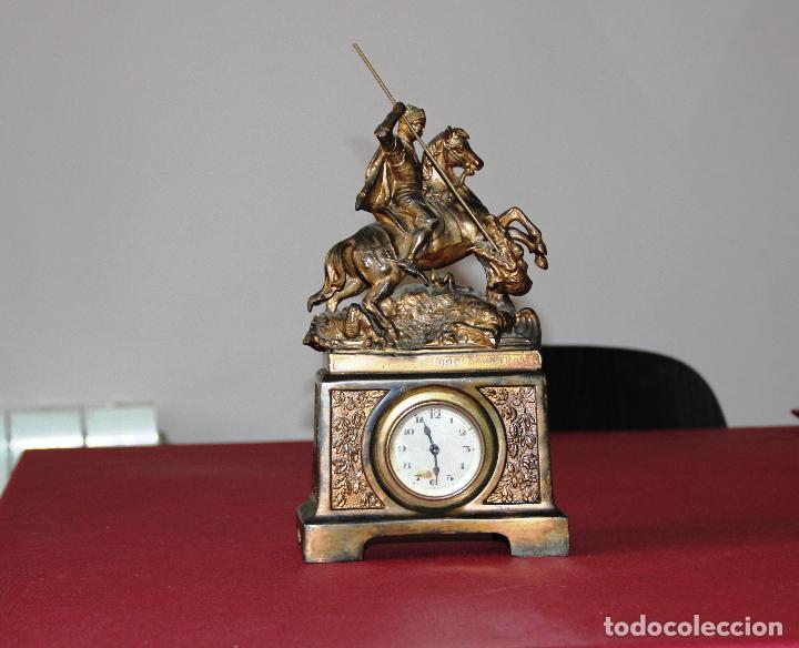 ANTIGUO RELOJ SANT JORDI Y EL DRAGON (Relojes - Sobremesa Carga Manual)