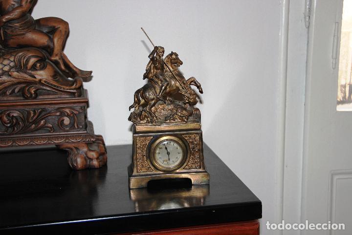Relojes de carga manual: ANTIGUO RELOJ SANT JORDI Y EL DRAGON - Foto 8 - 156536490
