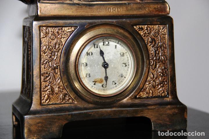 Relojes de carga manual: ANTIGUO RELOJ SANT JORDI Y EL DRAGON - Foto 9 - 156536490