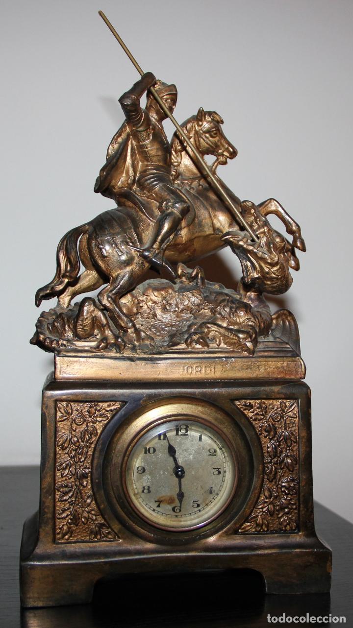 Relojes de carga manual: ANTIGUO RELOJ SANT JORDI Y EL DRAGON - Foto 10 - 156536490