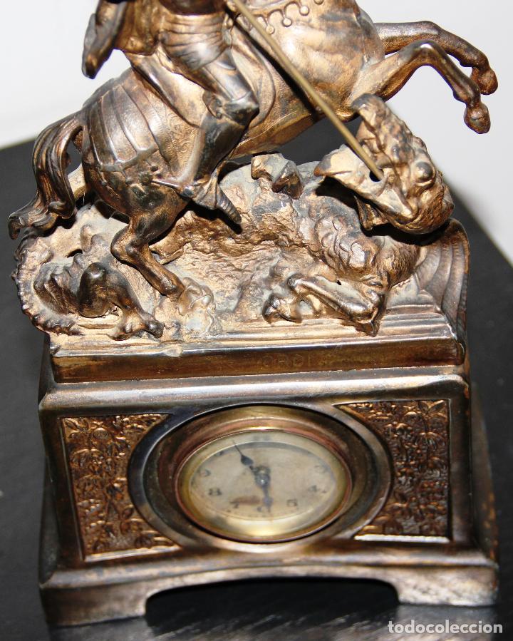 Relojes de carga manual: ANTIGUO RELOJ SANT JORDI Y EL DRAGON - Foto 15 - 156536490