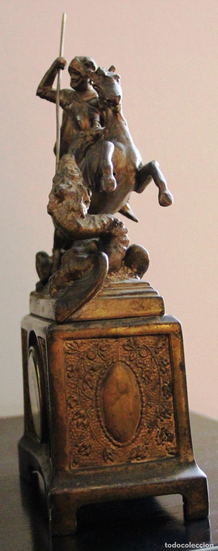Relojes de carga manual: ANTIGUO RELOJ SANT JORDI Y EL DRAGON - Foto 16 - 156536490