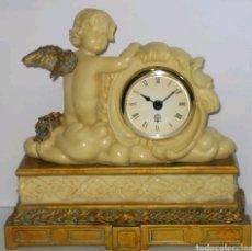 Relojes de carga manual: BELLÍSIMO RELOJ ANGEL DEL TIEMPO PIEDRA ARTIFICIAL TIPO VINTAGE MUY BELLO! QUARZO. Lote 156657677