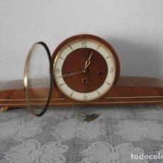 Relojes de carga manual: RELOJ ANTIGUO ALEMAN DE CHIMENEA MESA SOBREMESA SONERIA CAMPANADAS MELODÍA CATEDRAL BIB BEN CARILLÓN. Lote 157127946