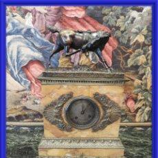 Relojes de carga manual: MAGNIFICO RELOJ EPOCA IMPERIO CON BRONCE DE CABALLO S. XIX. Lote 157269070