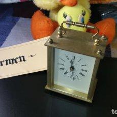 Relojes de carga manual: BOTITO RELOJ DE SOBREMESA DE BRONCE Y QUARTZ, FUNCIONANDO, ALEMAN. Lote 158482126