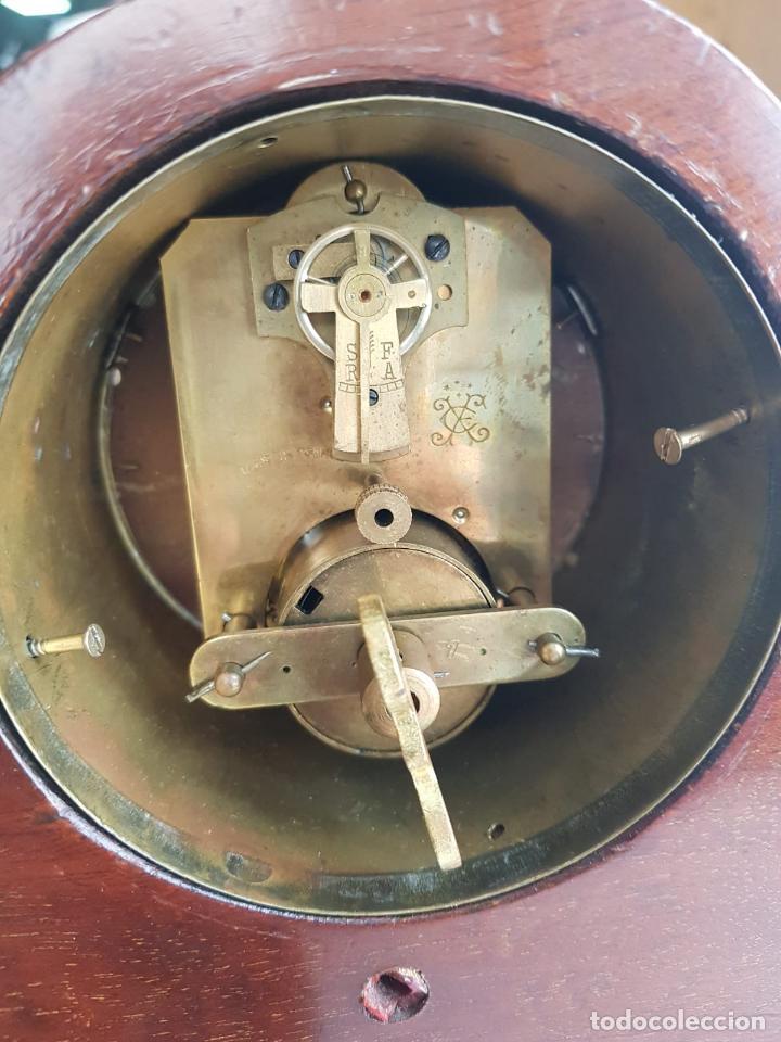 Relojes de carga manual: ANTIGUO RELOJ DE SOBREMESA FRANCÉS , SR FA 8 DAY , MARQUETERÍA - Foto 2 - 158540886