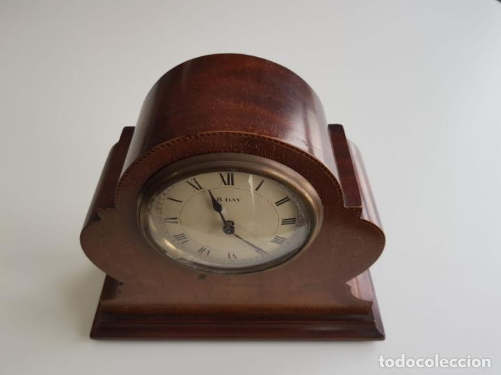 Relojes de carga manual: ANTIGUO RELOJ DE SOBREMESA FRANCÉS , SR FA 8 DAY , MARQUETERÍA - Foto 5 - 158540886