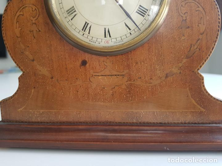 Relojes de carga manual: ANTIGUO RELOJ DE SOBREMESA FRANCÉS , SR FA 8 DAY , MARQUETERÍA - Foto 6 - 158540886