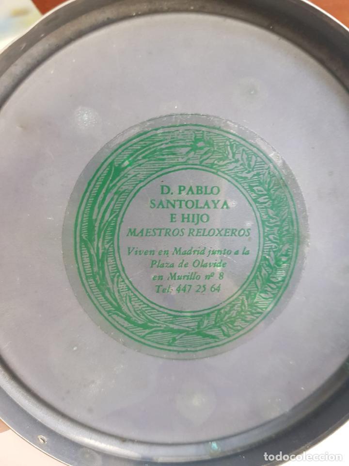 Relojes de carga manual: ANTIGUO RELOJ DE SOBREMESA FRANCÉS , SR FA 8 DAY , MARQUETERÍA - Foto 7 - 158540886